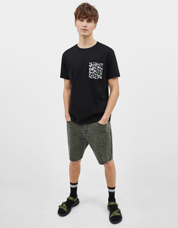 Camiseta con estampado leopardo
