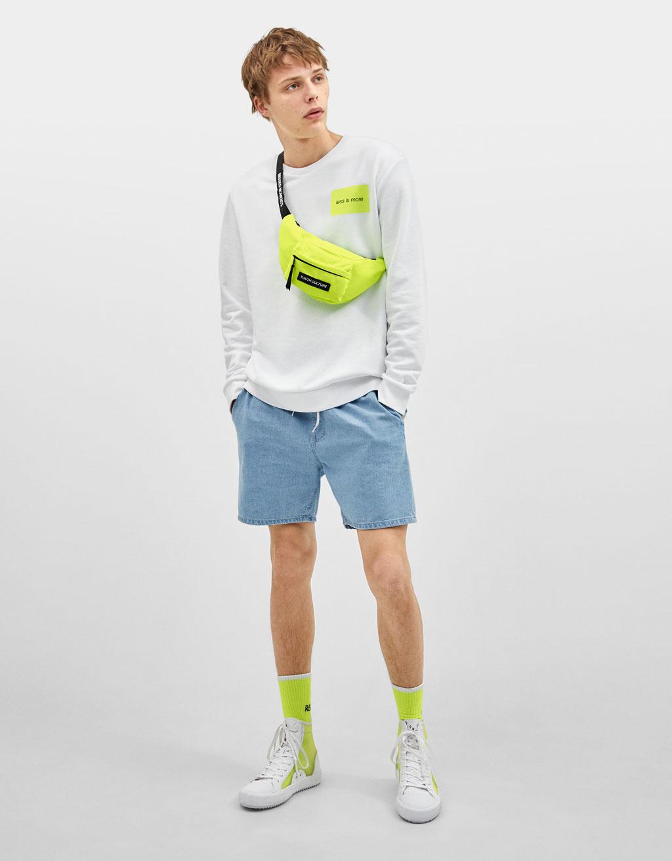 Джинсовые шорты с эластичной талией