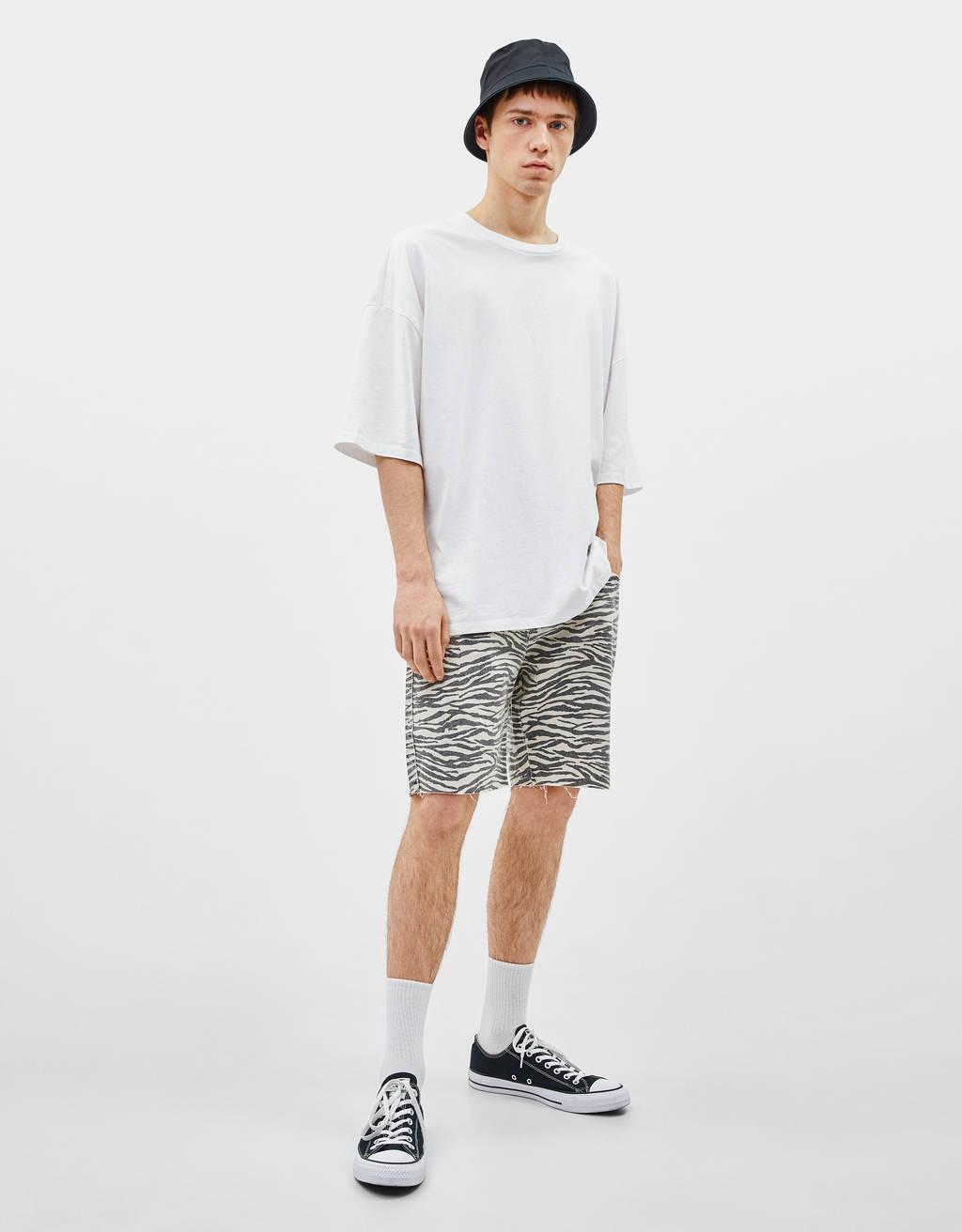 Potiskane bermuda hlače
