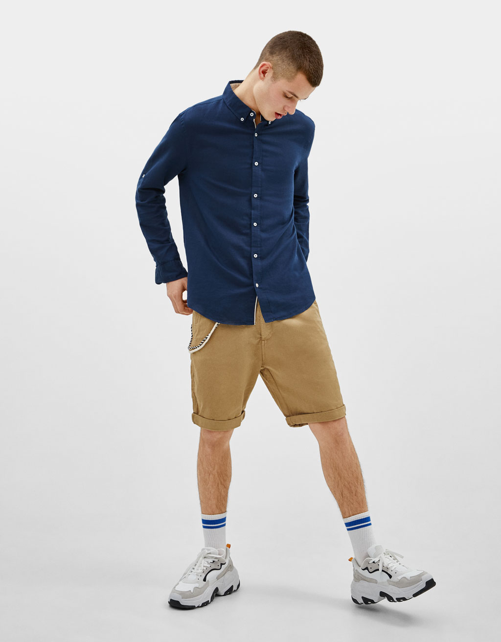 Chino-style Bermuda shorts with string