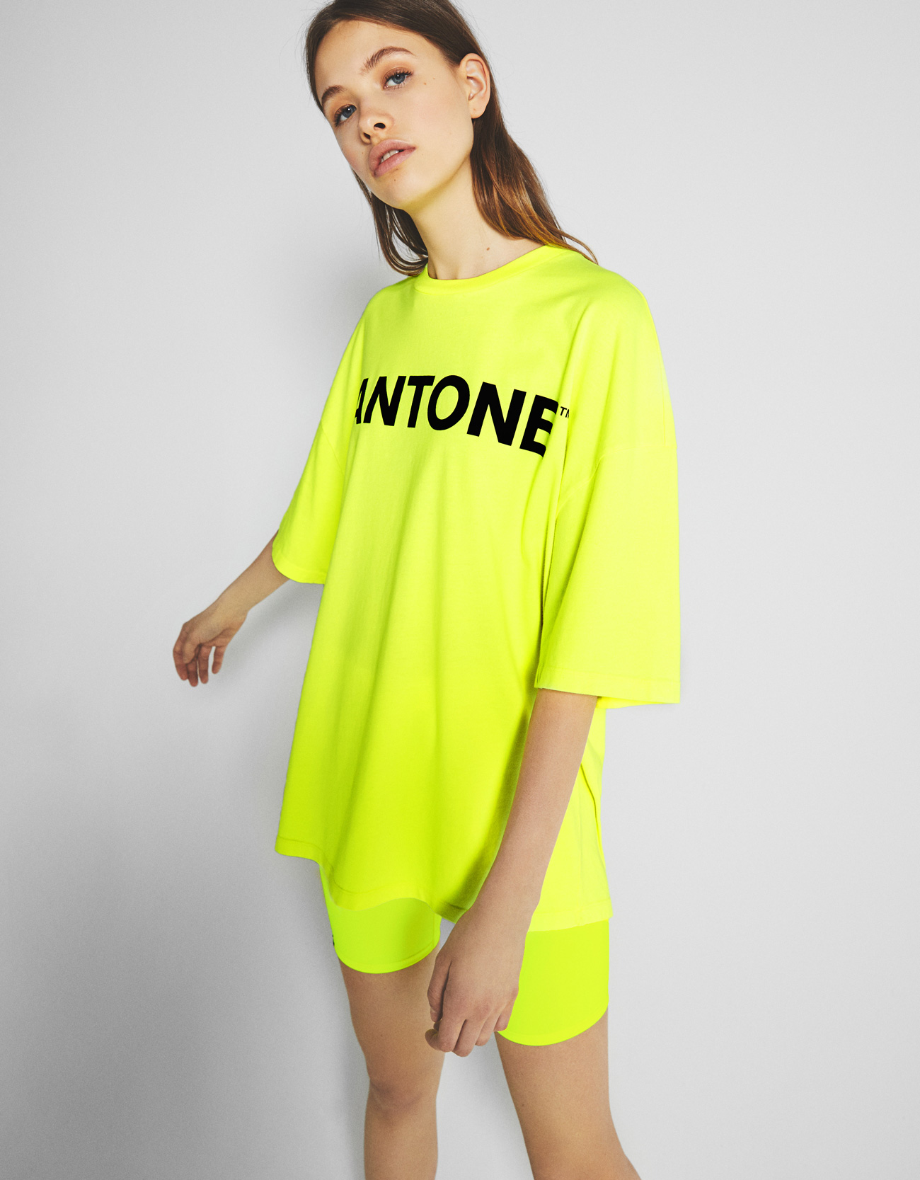 f7a5a82ad Bershka + PANTONE dad fit T-shirt - New - Bershka United States