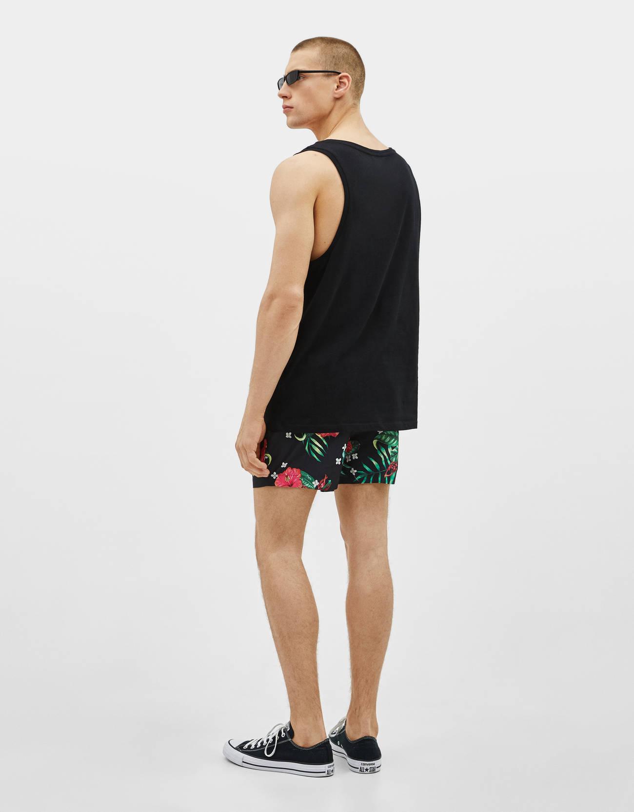 5fd5deeaf6 Floral print swimming trunks - Swimwear - Bershka Philippines