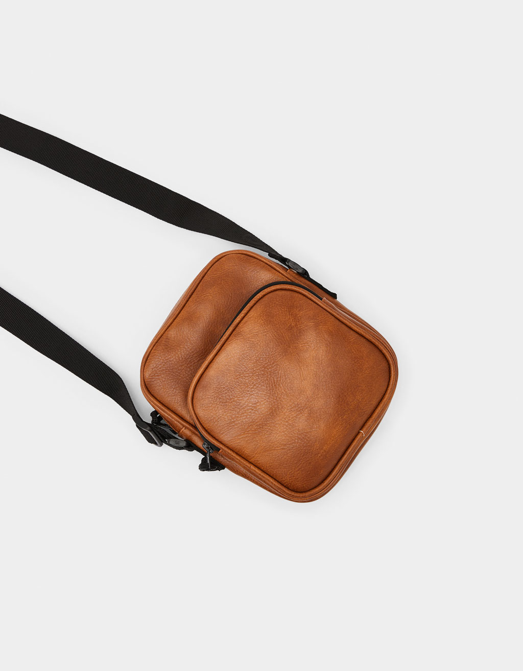 Faux leather pouch bag