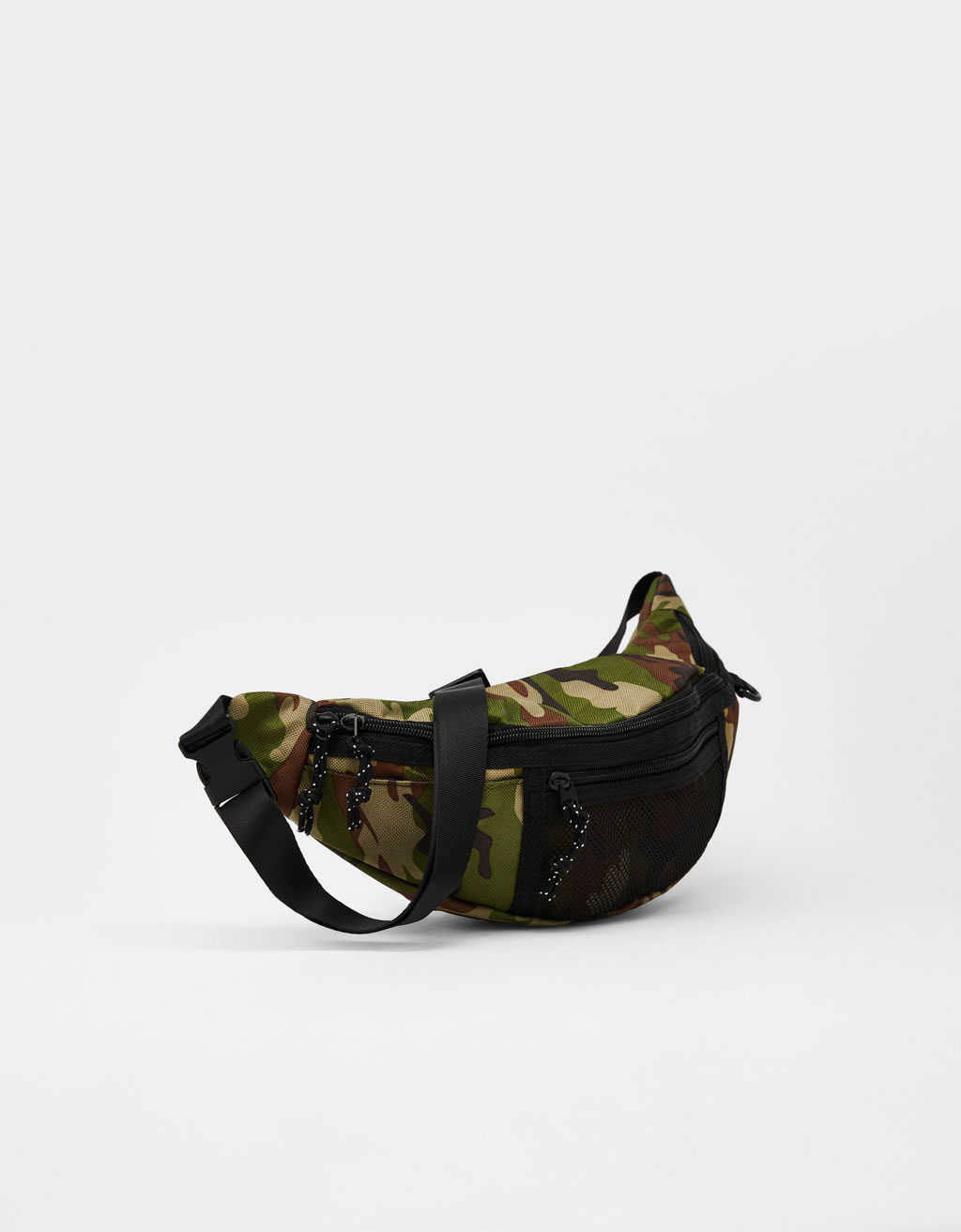 Fanny pack with mesh pocket