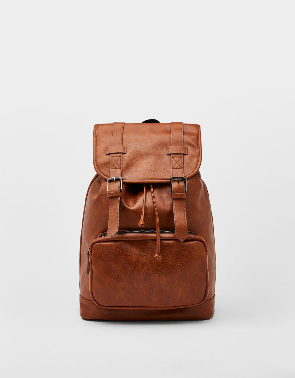 064a22259907f Faux leather backpack - Backpacks - Bershka Romania