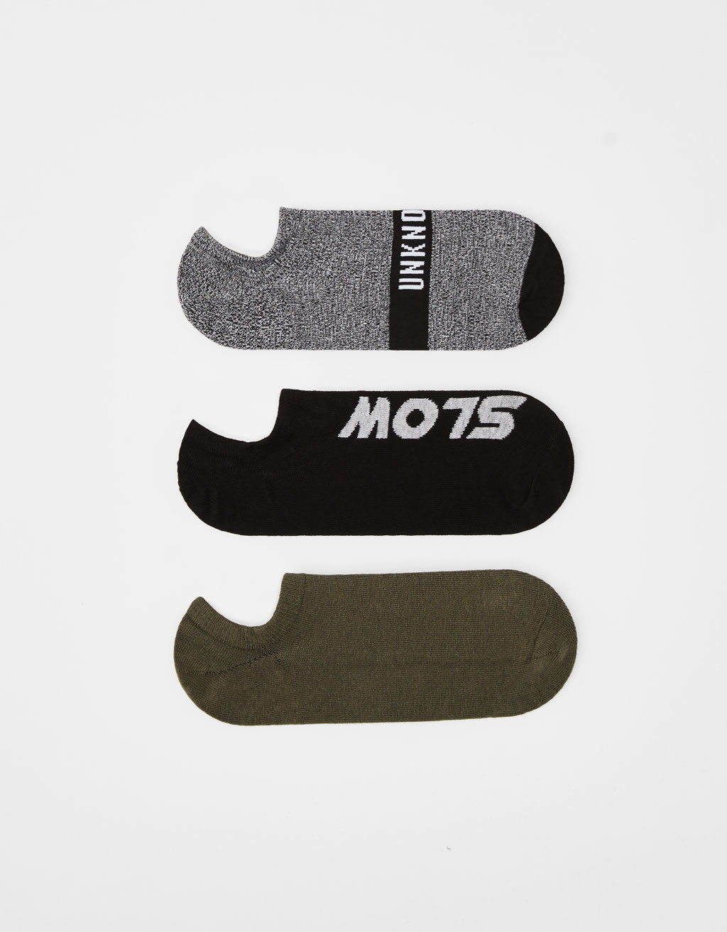Set of slogan-printed socks