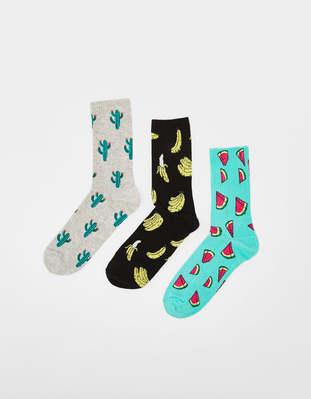 Set mit bedruckten Socken