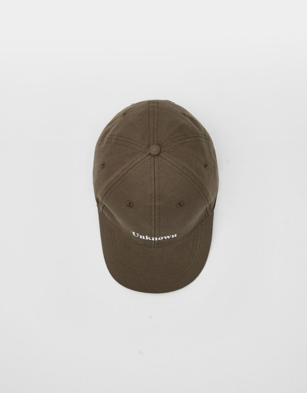 Cap with embroidered slogan