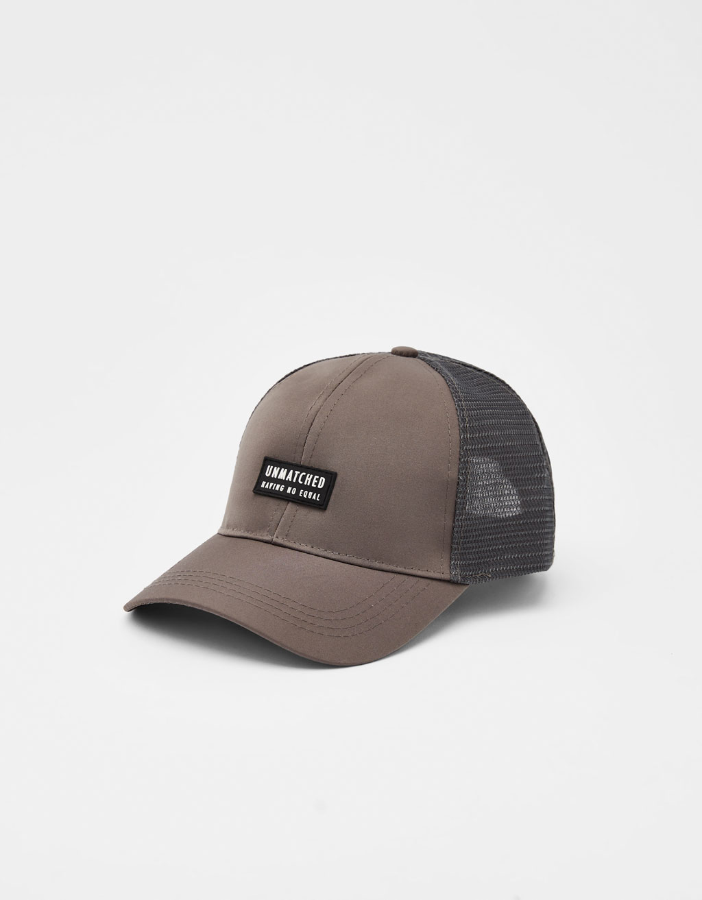 Mesh cap with patch