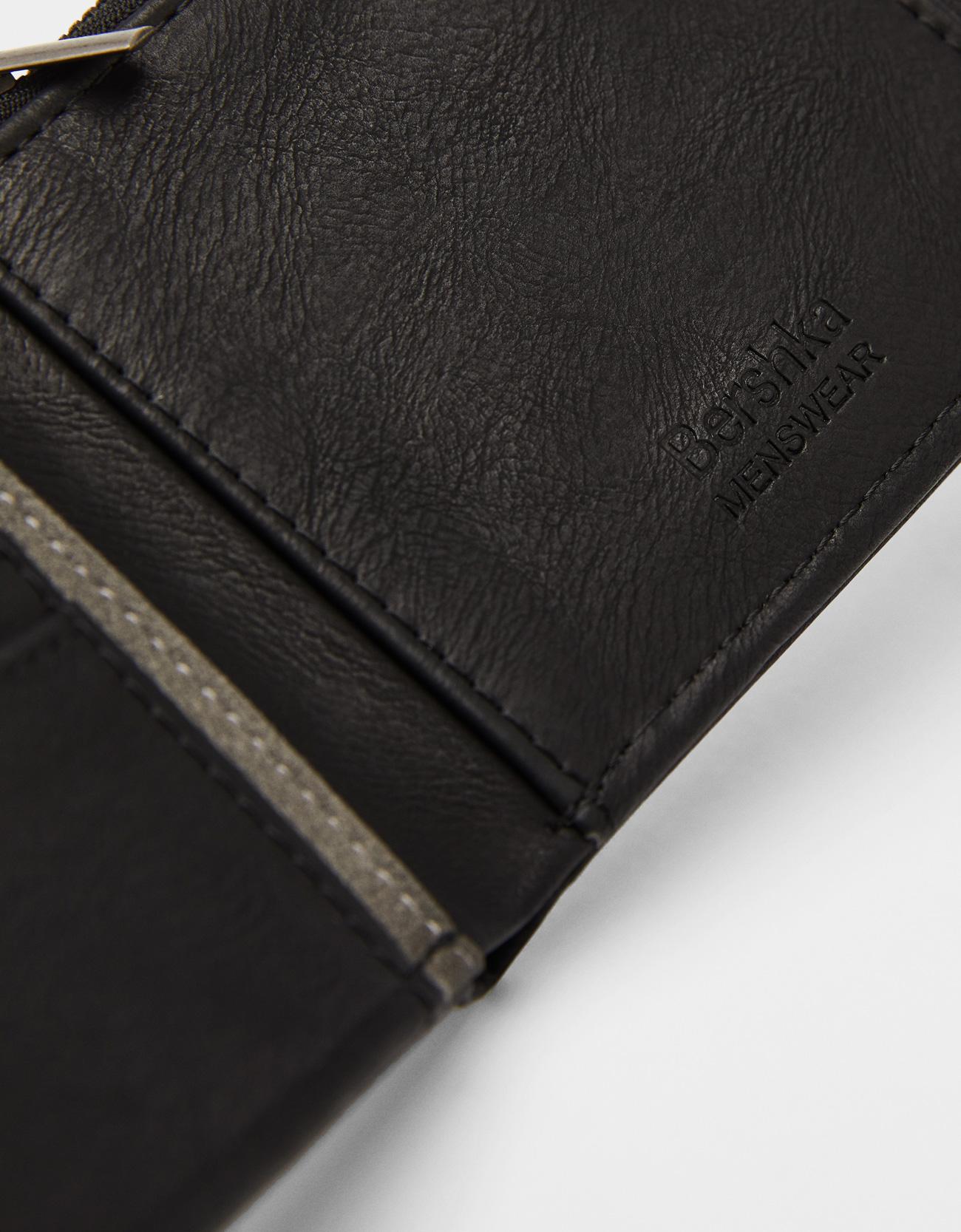 Faux leather wallet - Wallets - Bershka Czech Republic 374f7896b496e