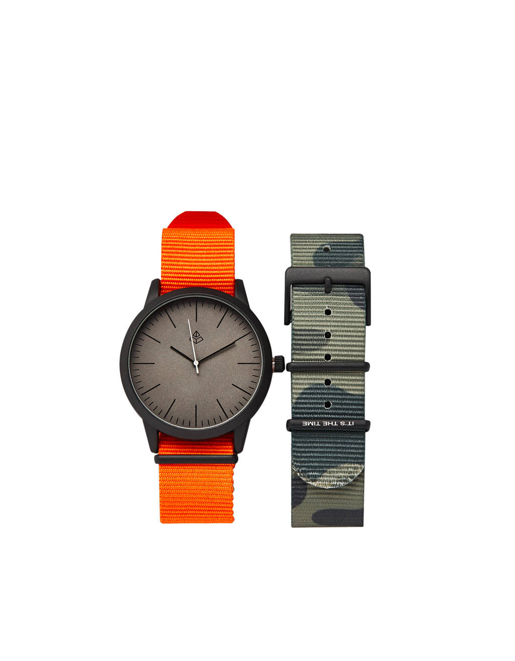 Analogue watch with interchangeable strap