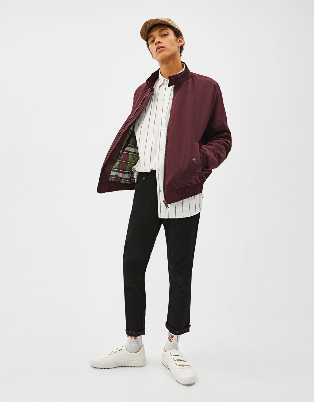 High neck bomber jacket