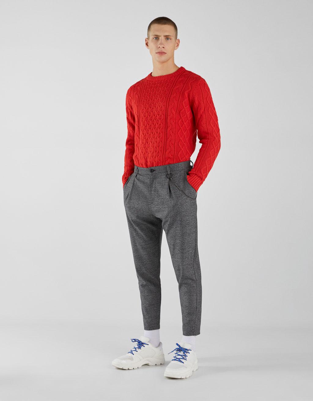 Pantaloni Carrot Loose Fit con catena