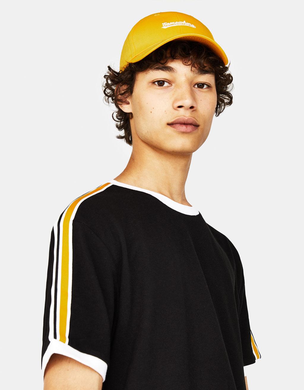 74980584f1 T-shirt with side stripes - T-Shirts - Bershka Philippines