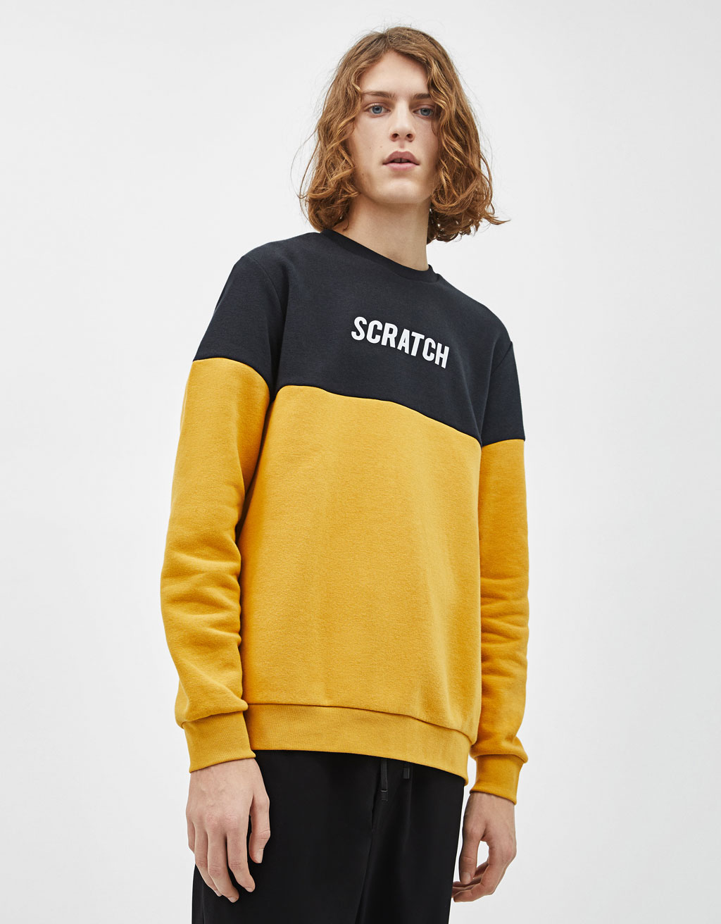 Sweatshirt mit Colour-Blocking
