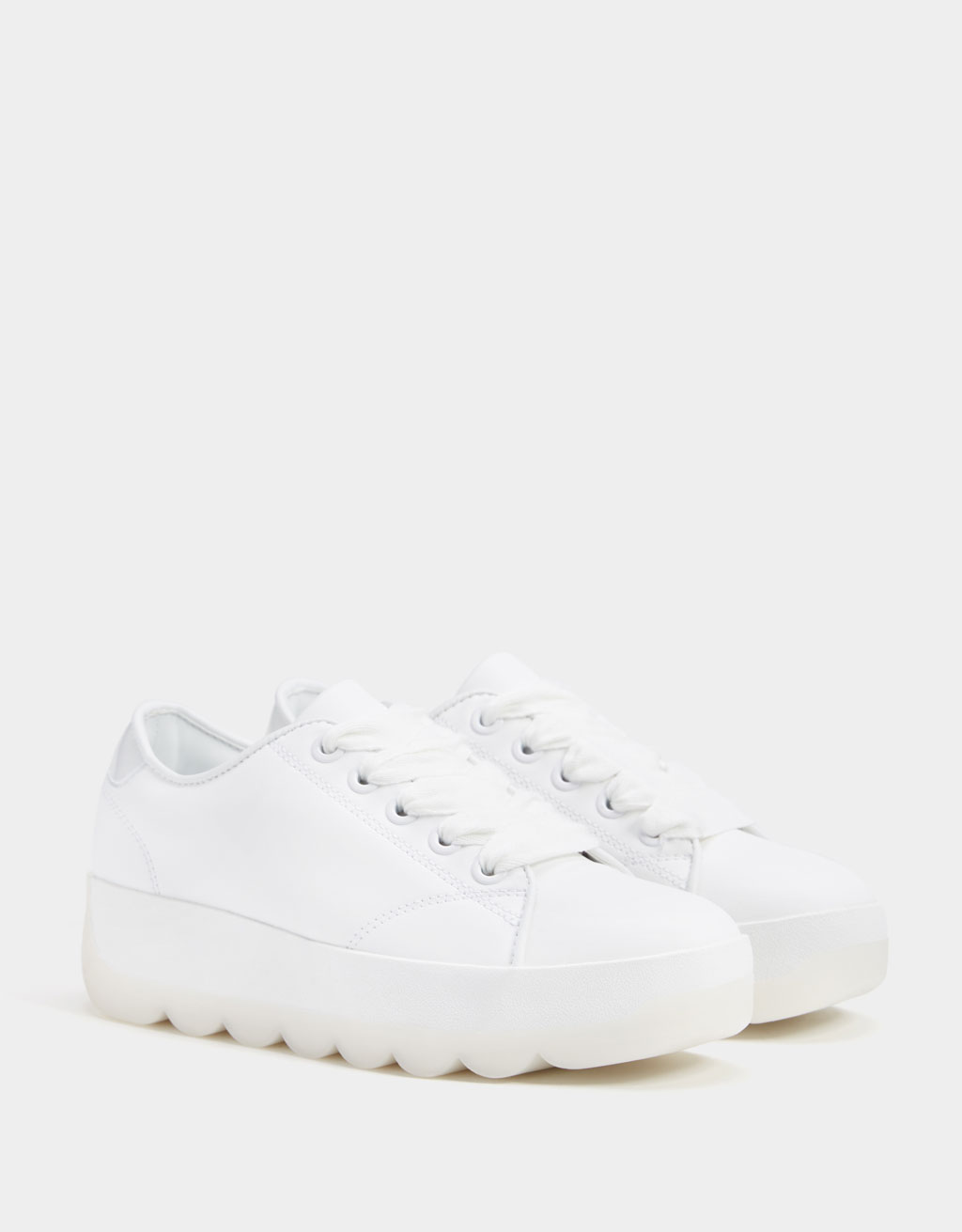 Scalloped platform trainers