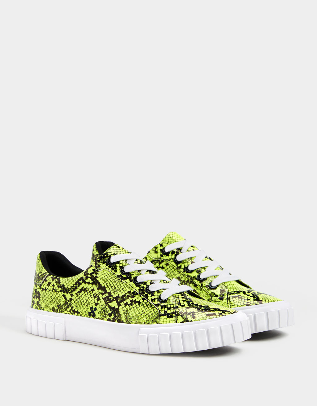 Colourful animal print trainers