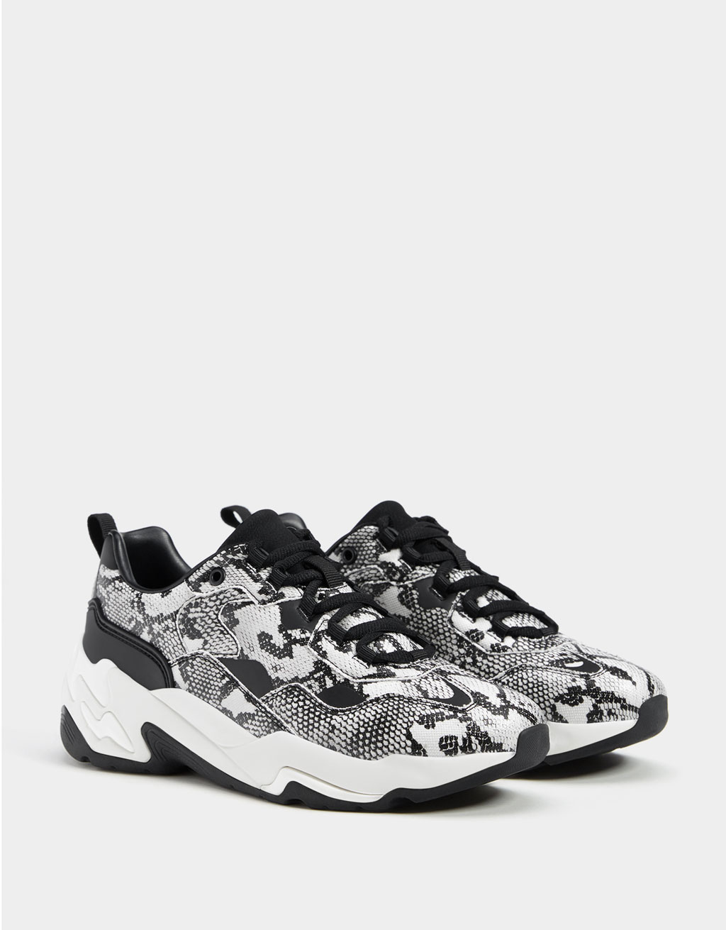 Sneakers plateforme animal print