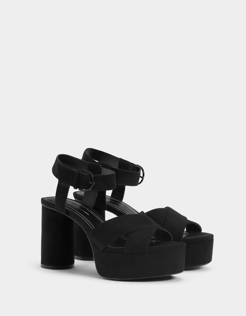 6d9c4edba03 High-heel platform sandals - Shoes - Bershka Macedonia