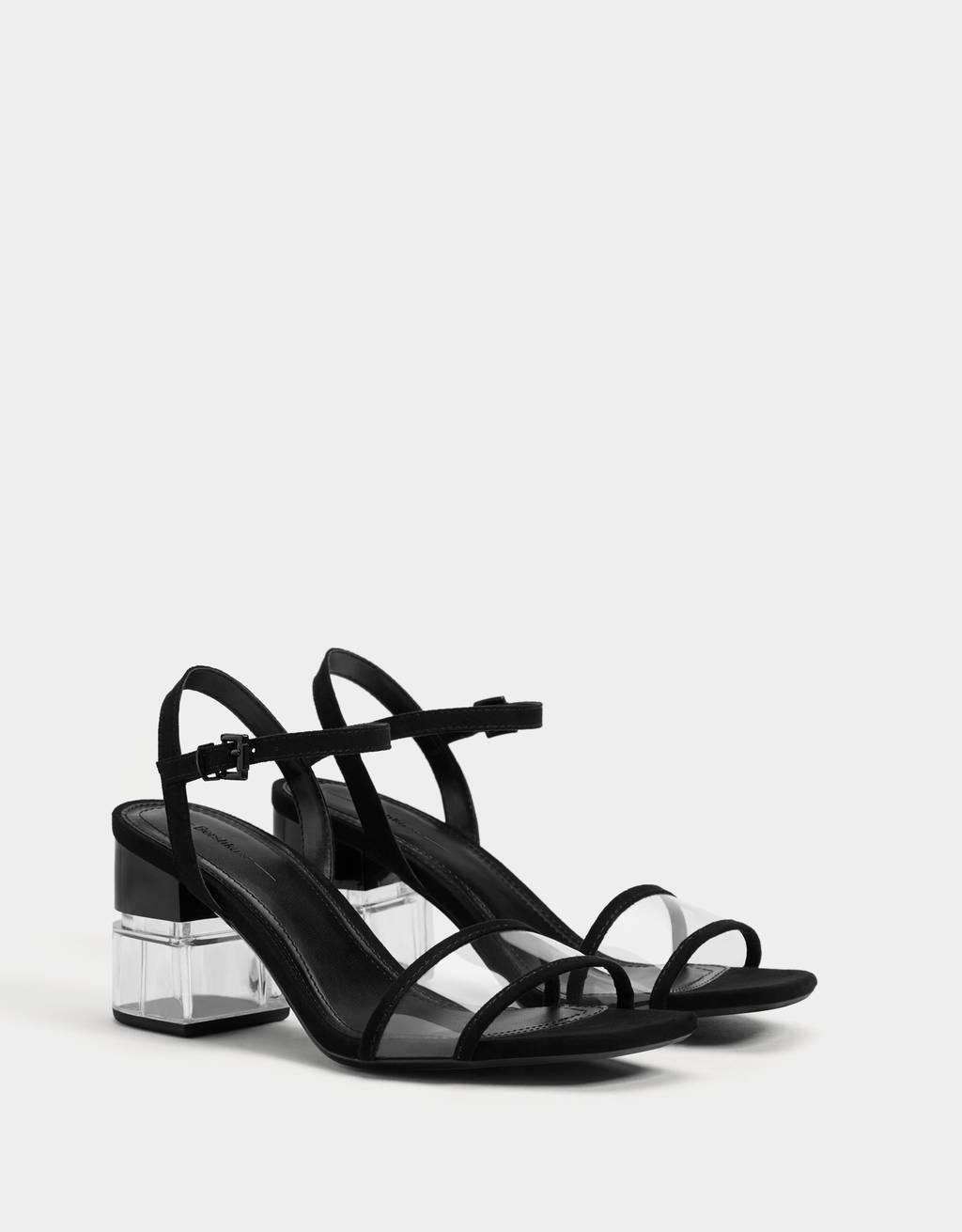 Sandales talon transparentes