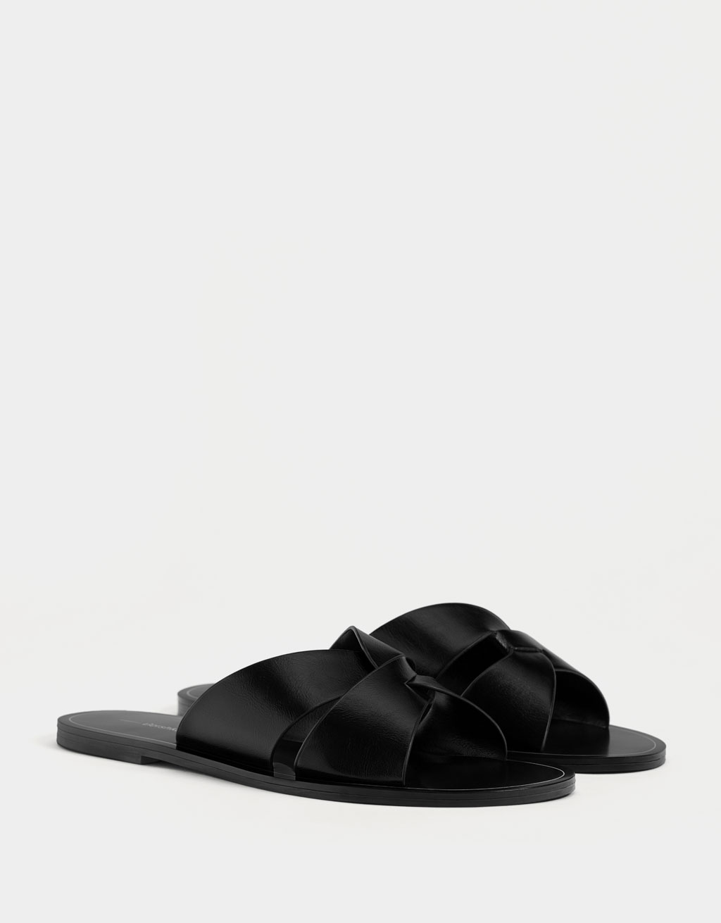 Criss-cross strap slides