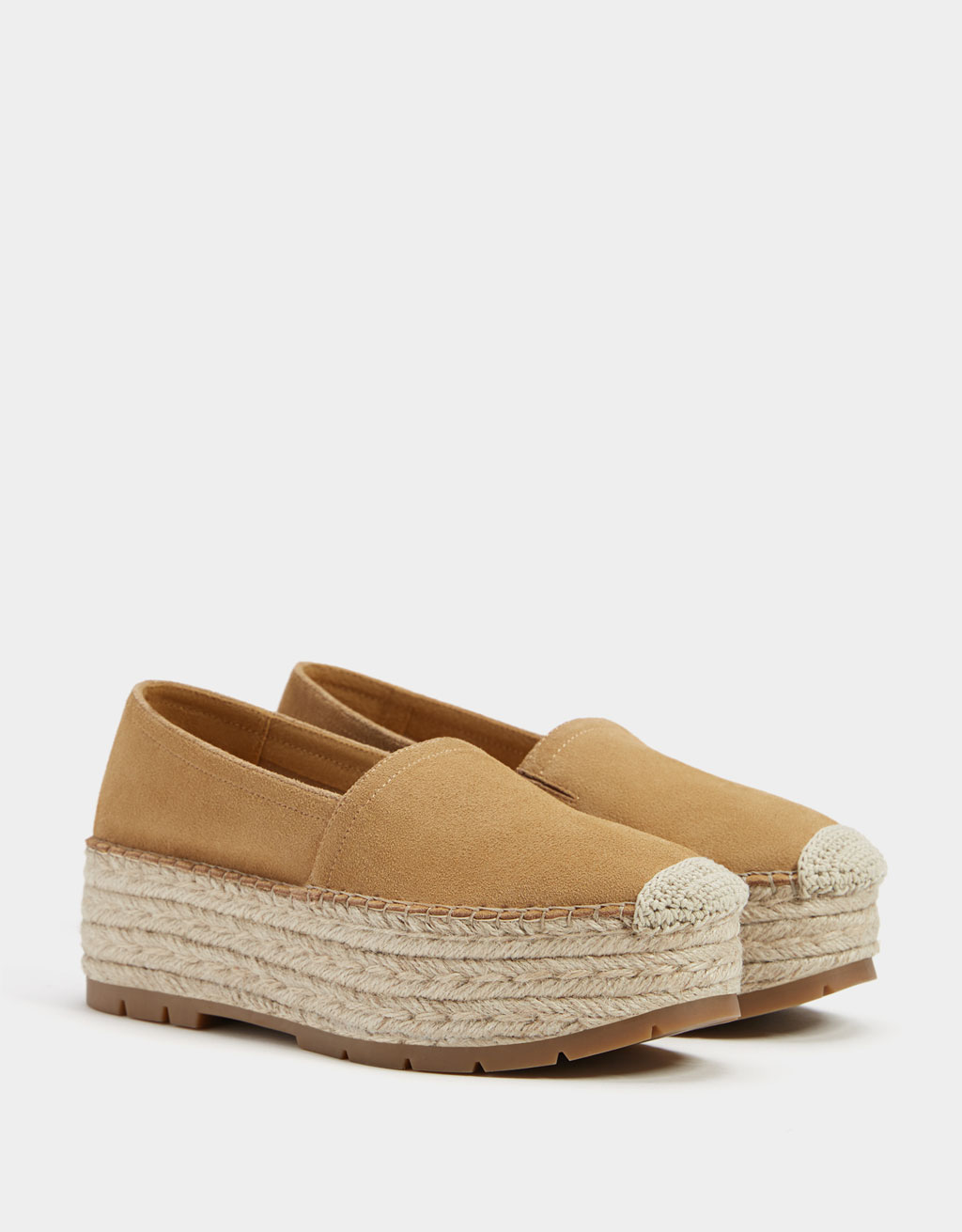 LEATHER and jute platforms