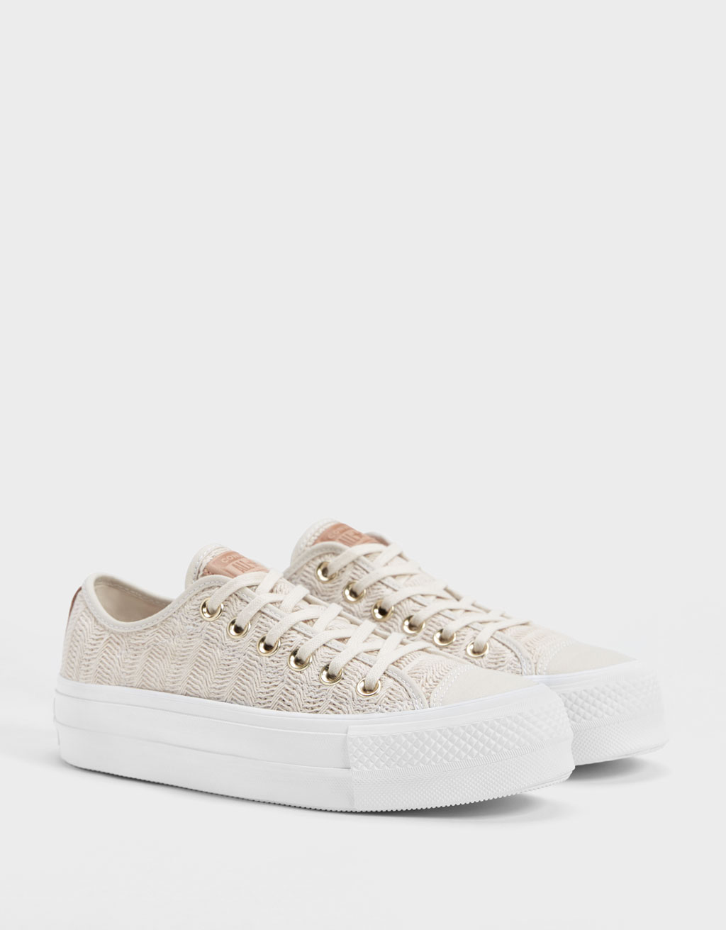 Naturel sneakers met plateauzool CONVERSE CHUCK TAYLOR ALL STAR