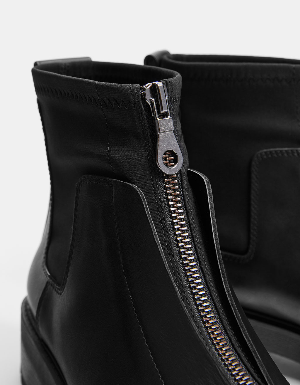 LEATHER zip-up ankle boots - Best Sellers - Bershka United Kingdom 968f6ded601c2