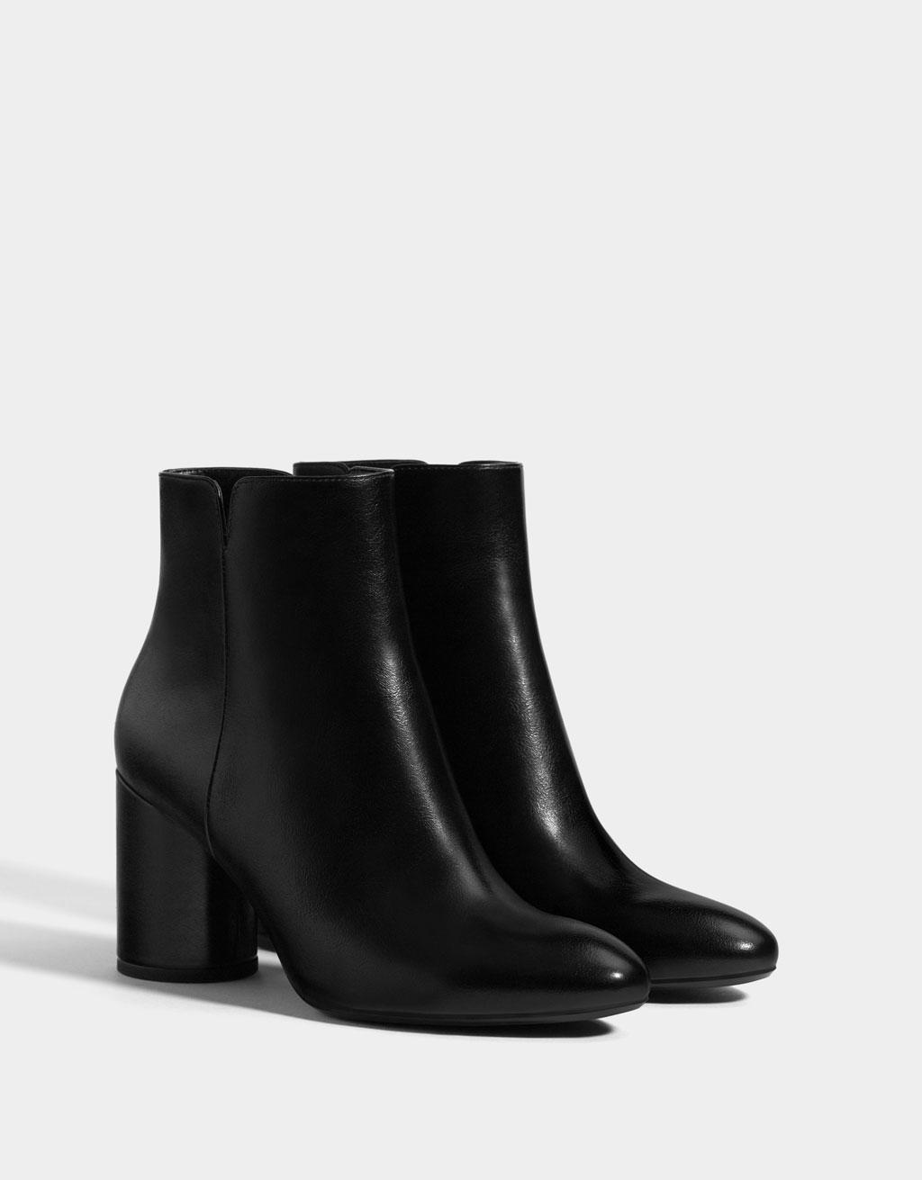 669d00392938 Zip-up high-heel ankle boots - Shoes - Bershka Philippines