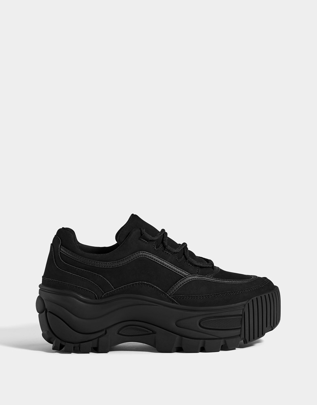 Baskets - Chaussures - COLLECTION - FEMME - Bershka France c9bf70288c39
