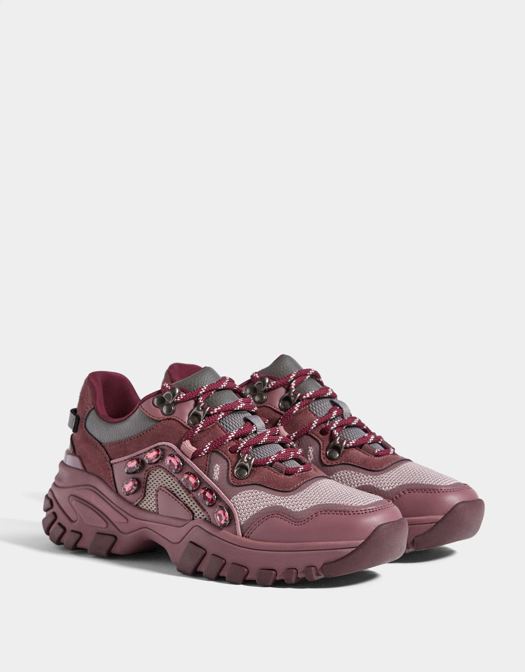 Platform trainers with jewels - Shoes