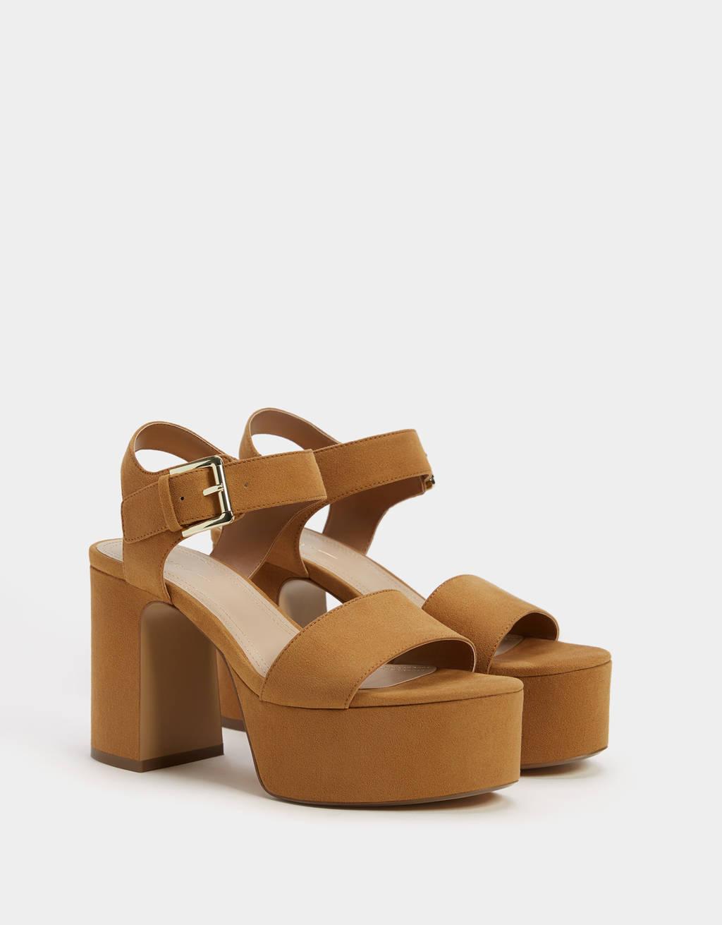 High-heel platform sandals
