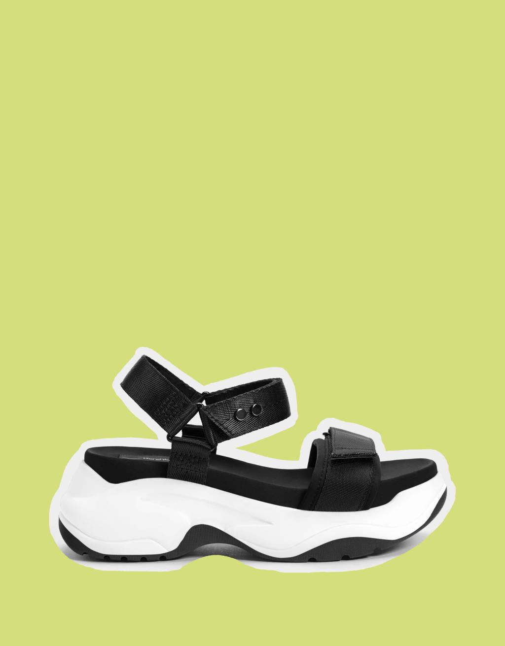 Sandales sport tissu plateforme