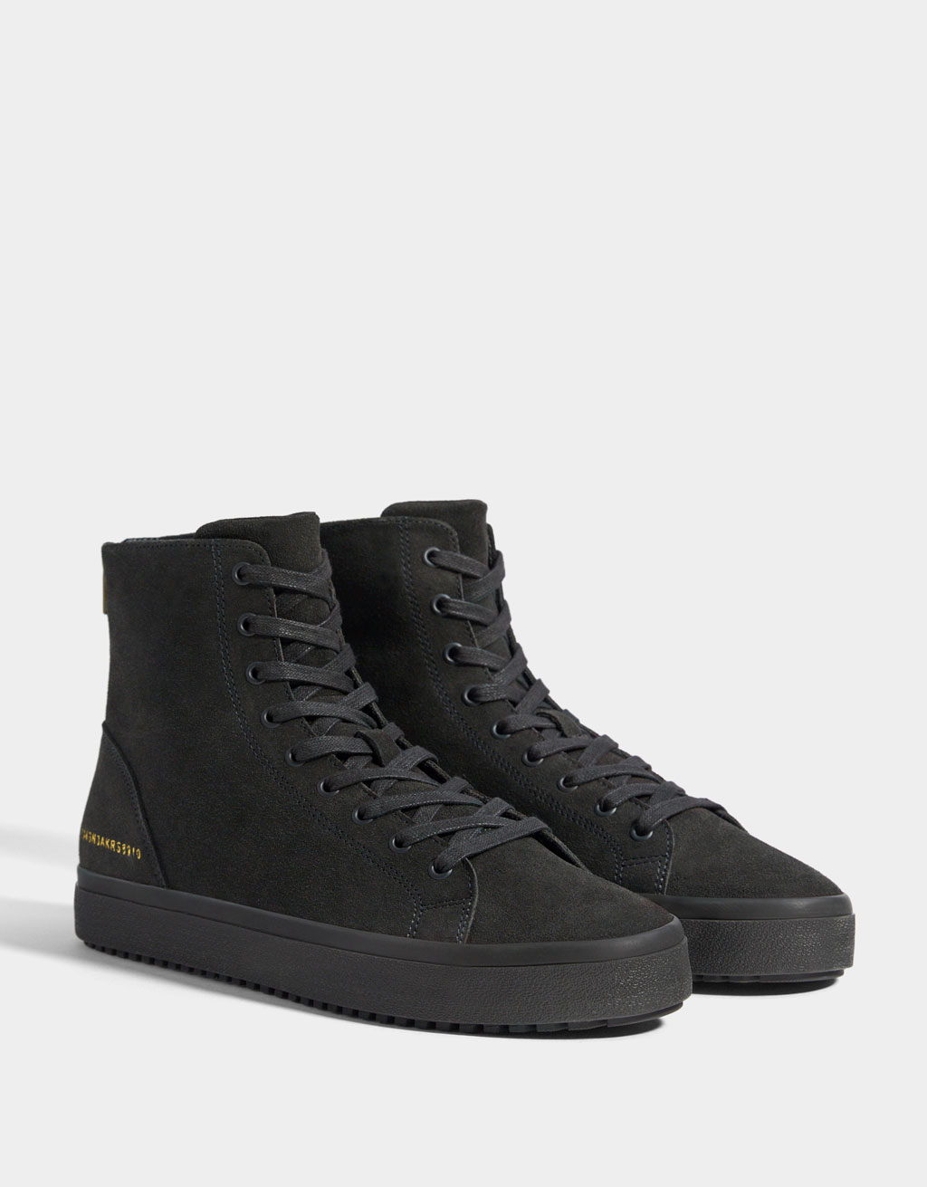 Leren hightop herensneakers
