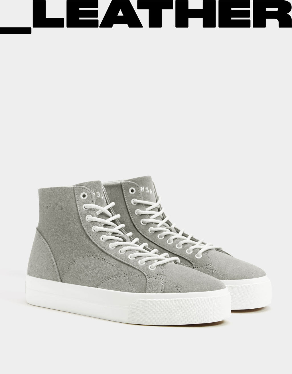 Leather Sneakers Leather Leather Men's High Men's High Sneakers Top Top Men's qScAL354Rj