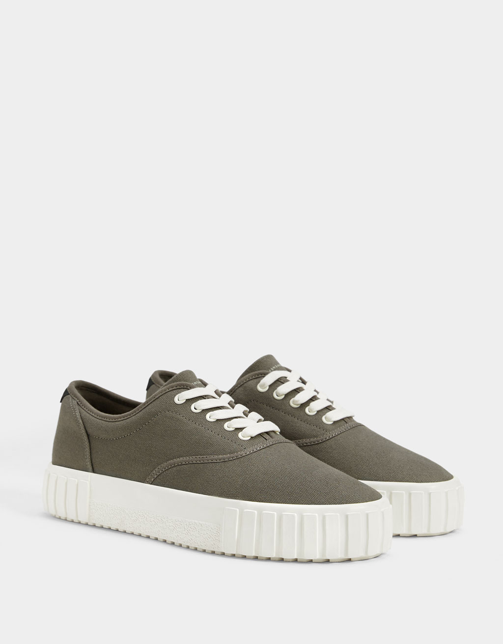 Men's contrast fabric trainers