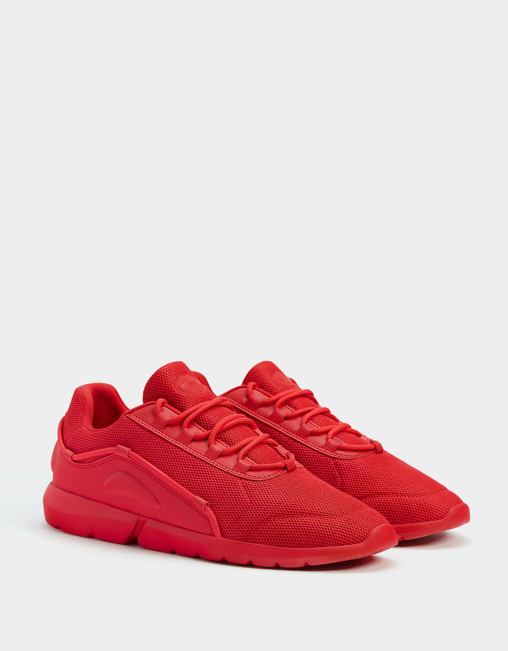 Men's monochrome trainers red