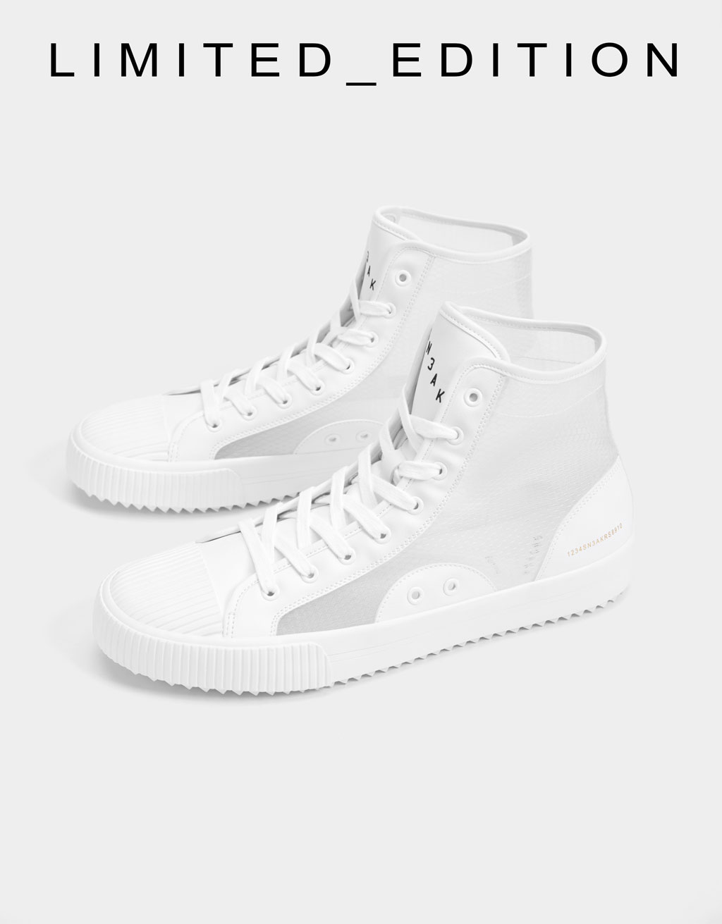 Men's transparent high-top trainers