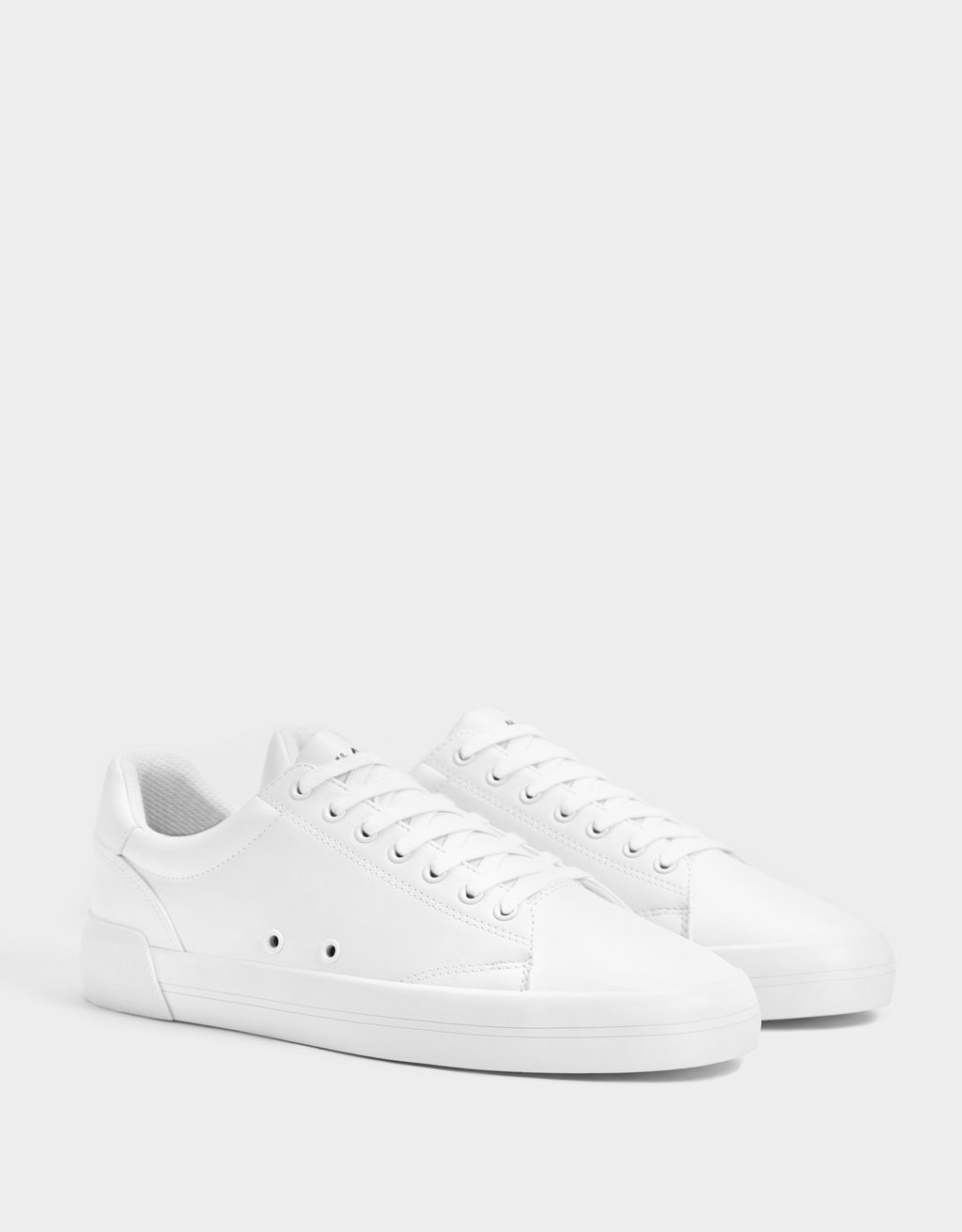 Men's white monochrome trainers