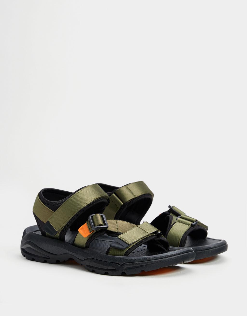 Sandales techniques bimatière homme
