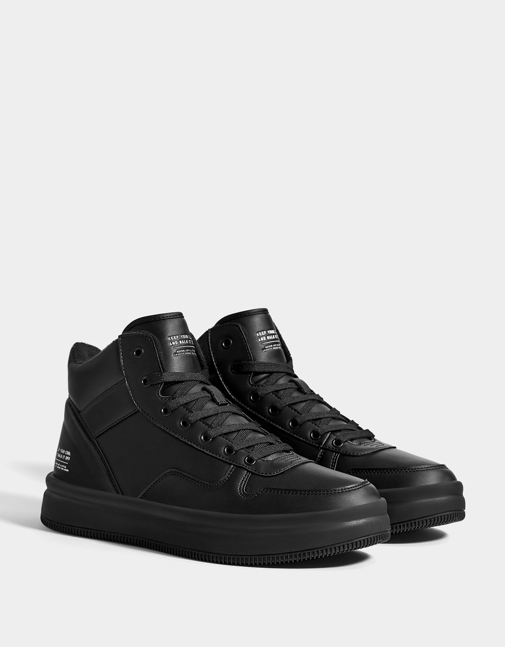Men's lined high top trainers
