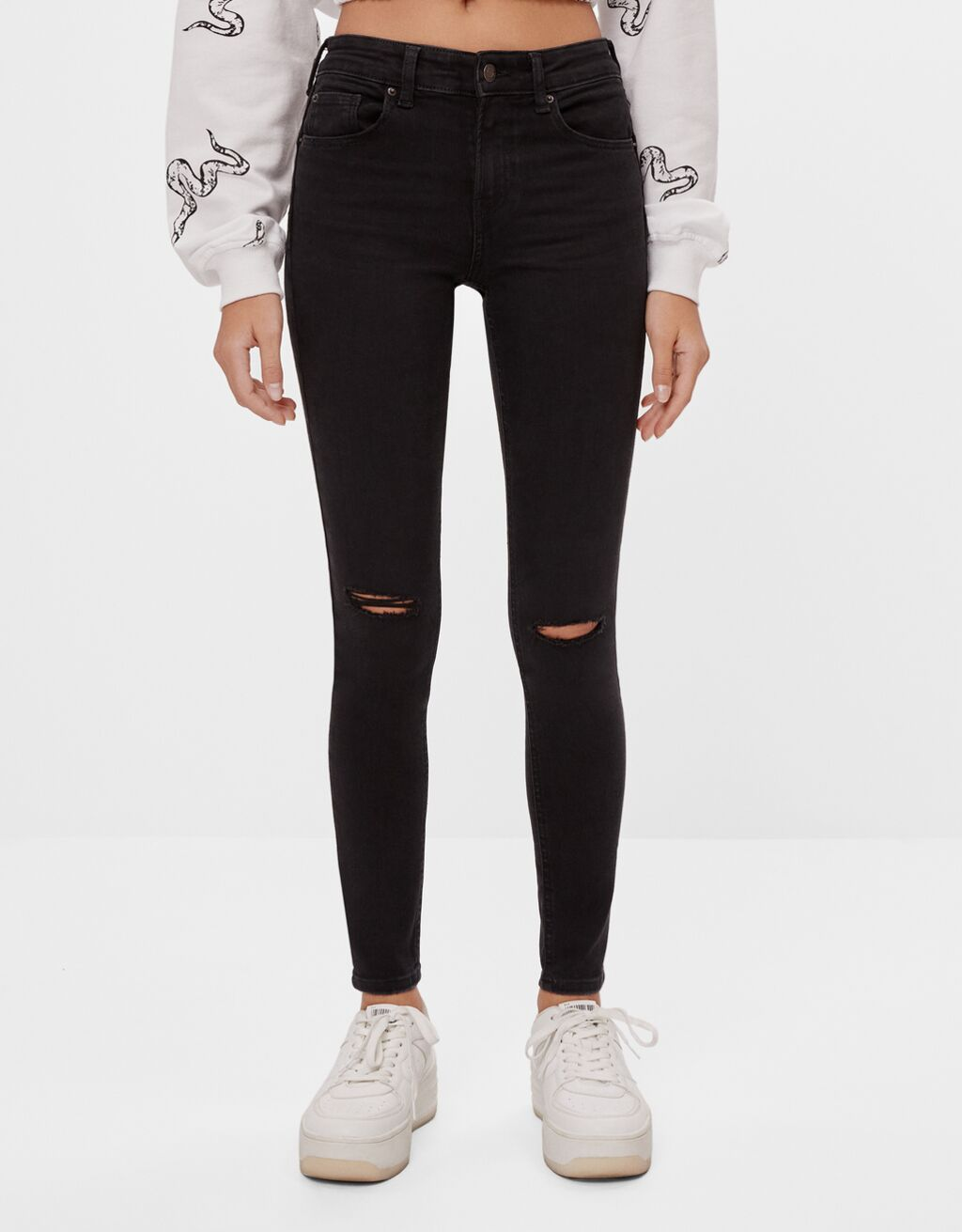 Jeans push up Mid Waist