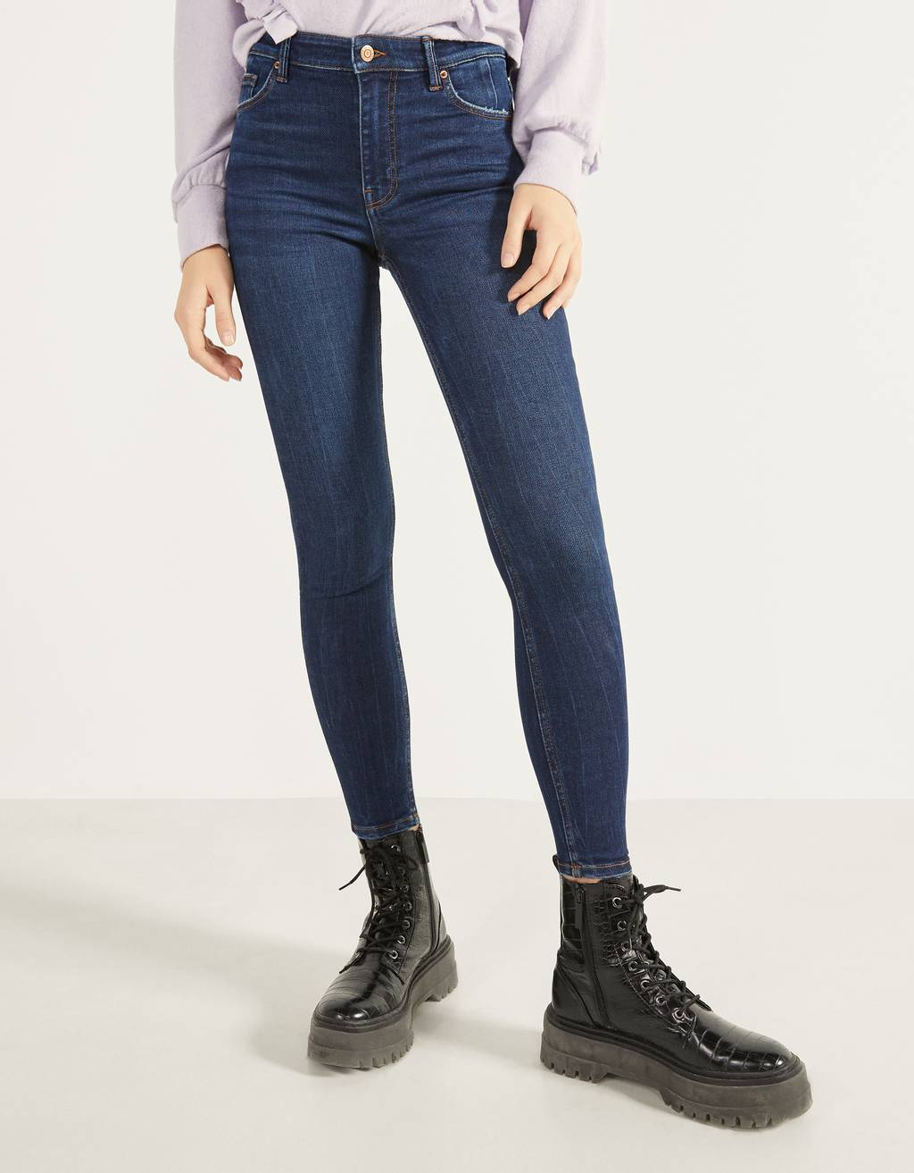 Jeans Skinny Fit High Waist