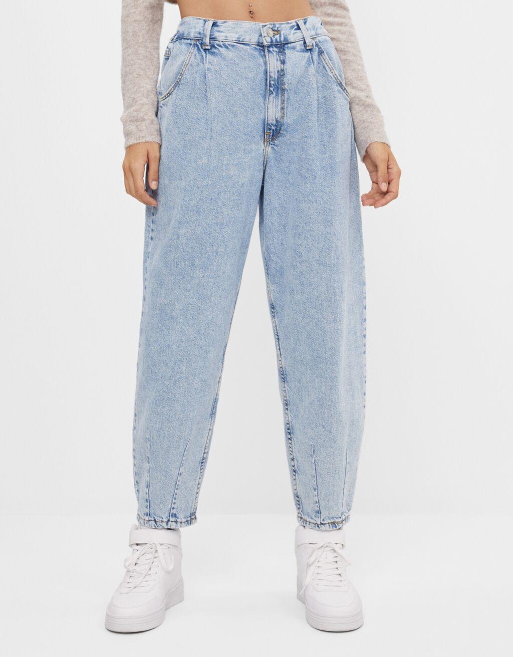 Balloon fit jeans - Trousers - Women | Bershka
