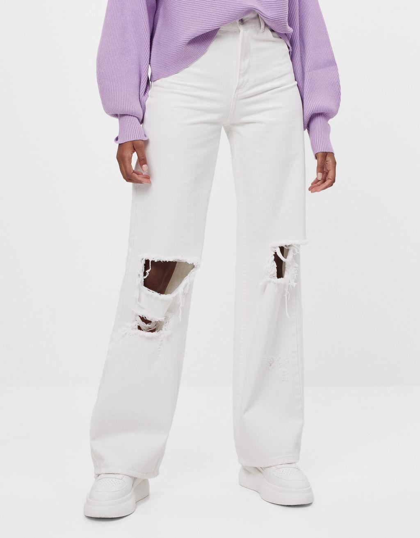 Jeans 90's évasé et déchiré