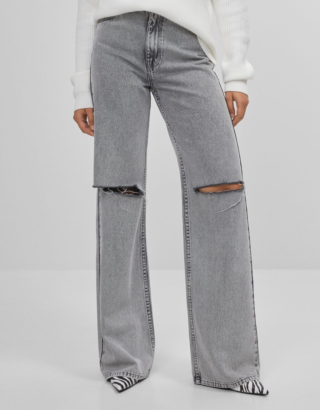 Jeans 90's Flare con rotos