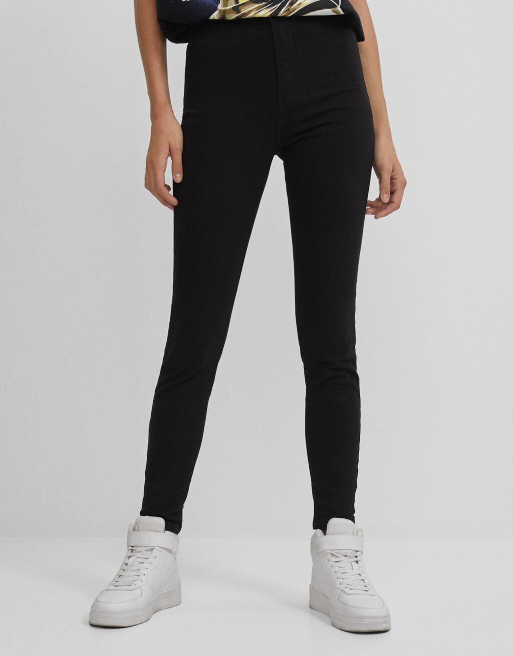 Pantaloni jeggings high waist