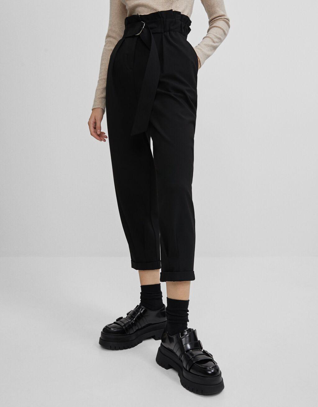 Pantalón Slouchy con cinturón