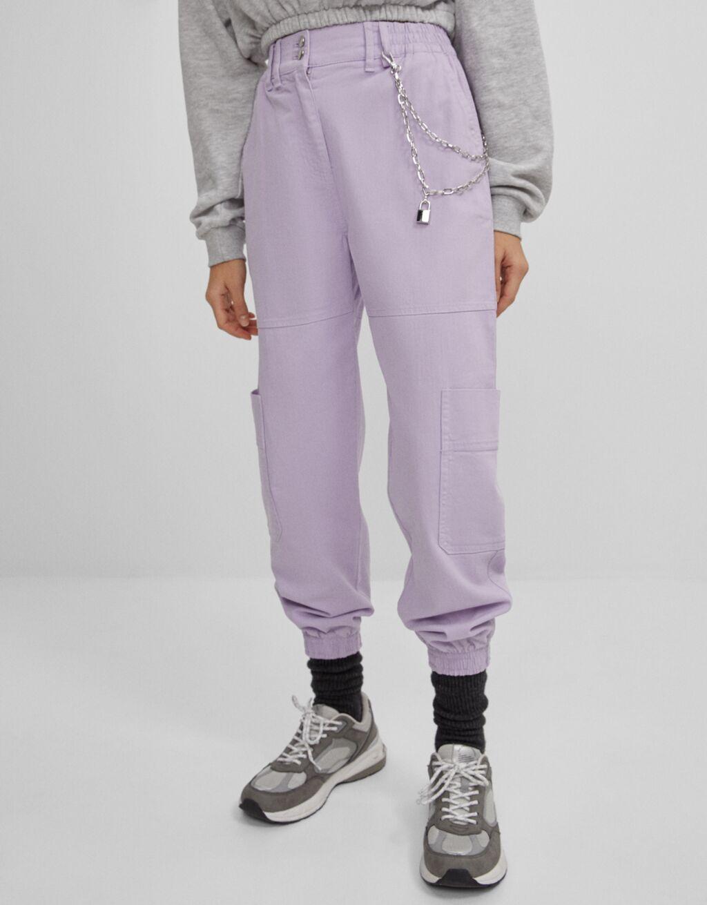 Zincirli jogging fit pantolon