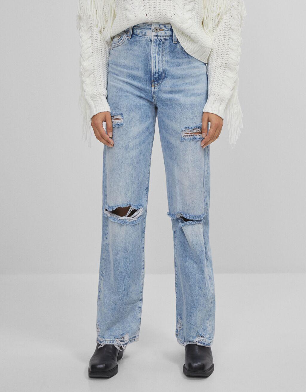 90er-Jeans mit Rissen